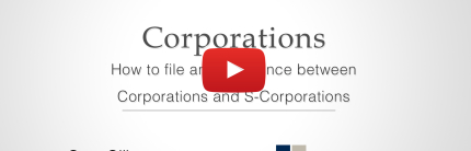 How to file a Corporation or S-Corporation: Video
